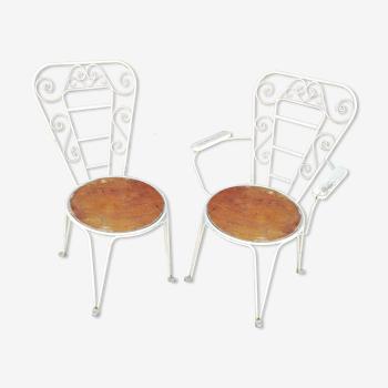 Paire de chaises vintage de jardin