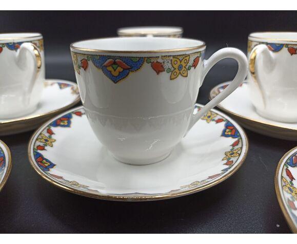 6 tasses à café Art Déco - Jean Boyer