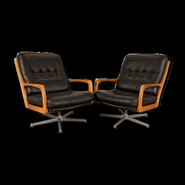 Selency Paire de fauteuils designer Eugen Schmidt Soloform années 1960