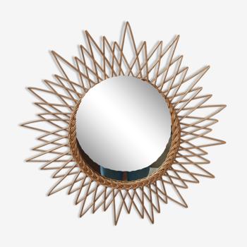 Miroir soleil rotin 65cm