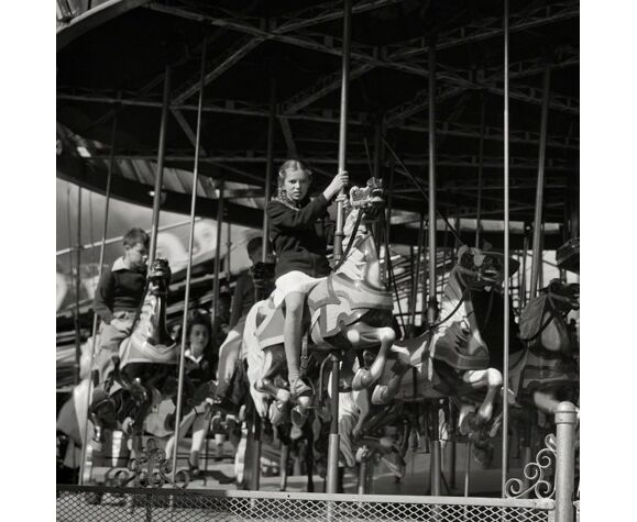 "Photography, ""Manège at the Rutland Fair"", Vermont, USA, 1912 / 15 x 20 cm"