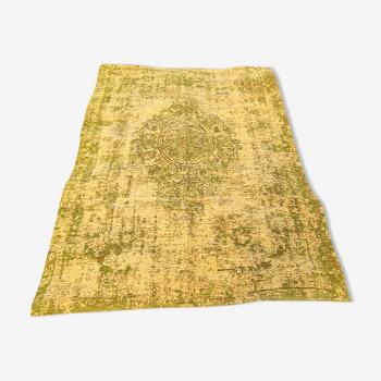 Tapis design style délavé  vert et jaune 149x230