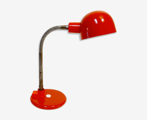 Lampe vintage rouge par Aluminor