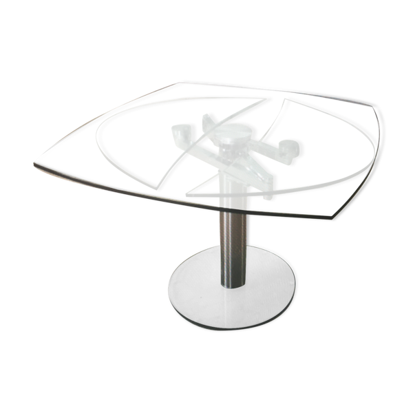 Table extensible haut de gamme en verre trempé