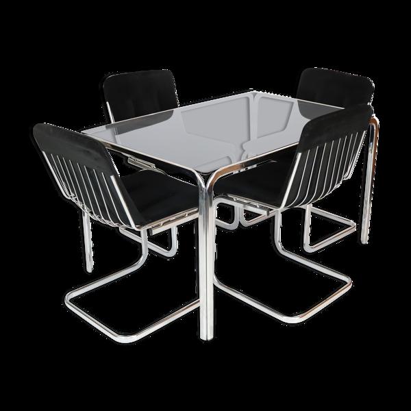 Selency Ensemble table à manger et ses chaises