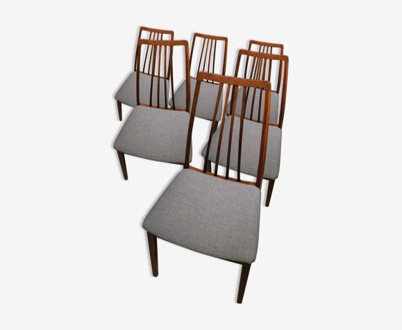 Série de 6 chaises en palissandre design scandinave des années 1960