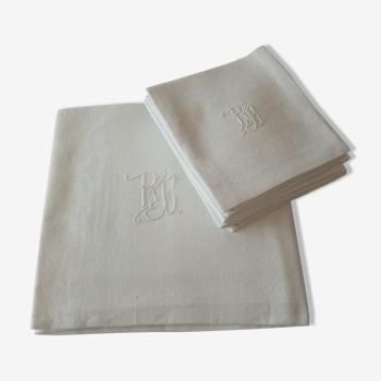Nappe et serviettes de table