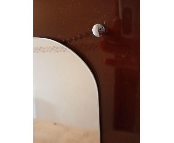 Miroir sur cadre plexi fumé - 40x40cm