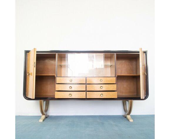 Buffet buffet déco plaqué acajou radica designi années 30 vintage