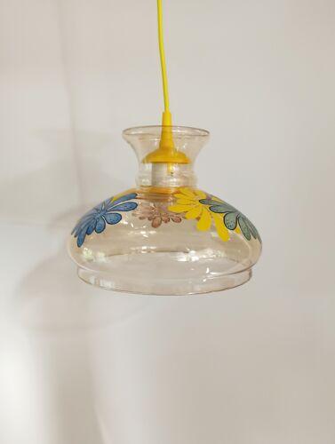 Suspension en verre vintage
