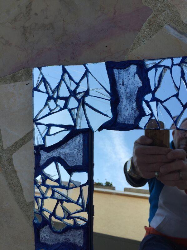 Miroir mosaique  48 x 48 cm
