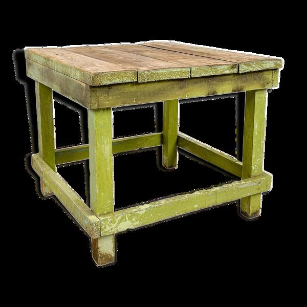 Table d'appoint industrielle en bois