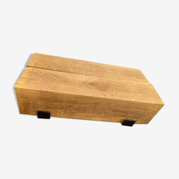 Table basse en poutre de chêne massif