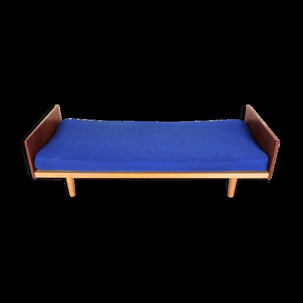 Canapé-lit de jour en teck de style vintage danois années 1960-70