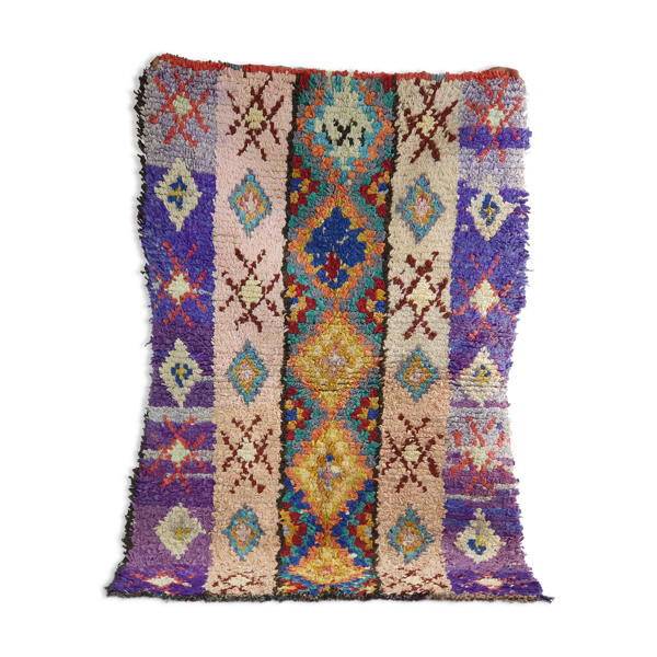 Tapis berbère violet 150x100 cm pour salon