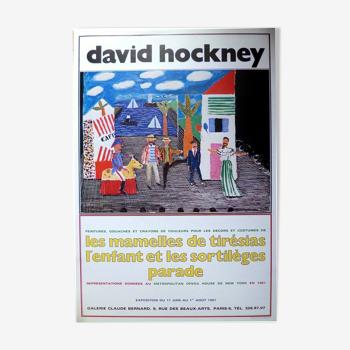 Lithographie, David Hockney 1981