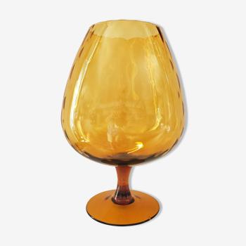 Coupe verre italien ambré