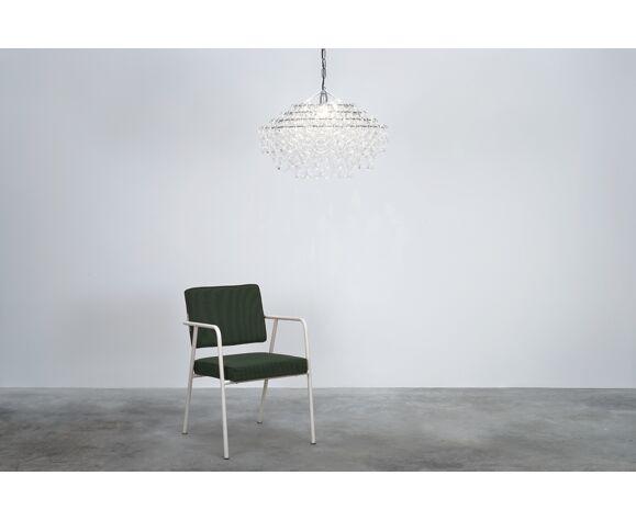 "Suspension design Mangiarotti modèle ""Giogali"" en verre de Murano édité par Vistosi"
