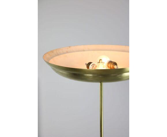Lampadaire en laiton vintage de plancher
