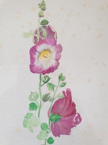 Henri de Linarès (1904-1987) - aquarelle sur papier - Fleurs