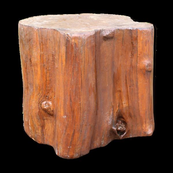Assise en tronc d'arbre vernissé