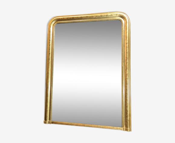 Miroir ancien 133x100cm doré à la feuille d'or