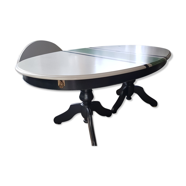 Selency Table ovale avec 2 rallonges