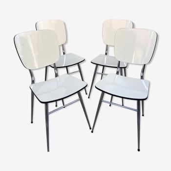 Set de 4 chaises en formica vintage 1960