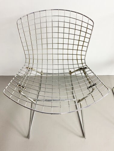 Pair of Side chairs by Bertoia Harry, Knoll edition