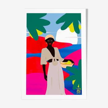 Manda toto - illustration en édition limitée, format A4 Elisa Brouet