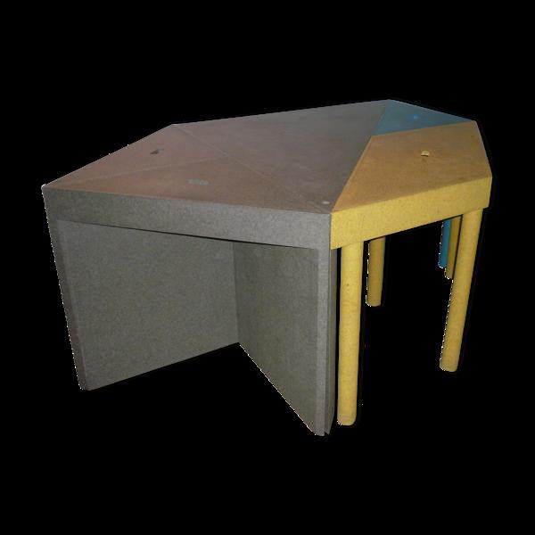 Tables Tangram par Massimo Morozzi pour Cassina, 1983