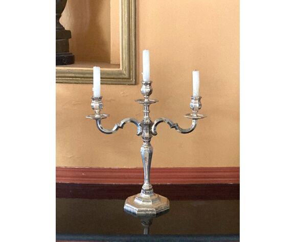 Chandelier à trois branches, candélabre ancien