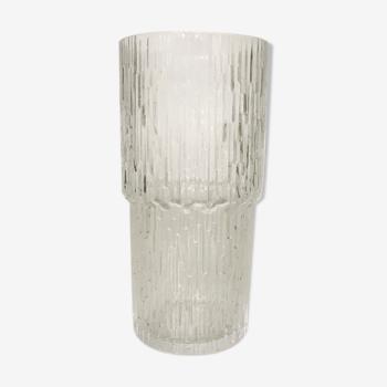Vase scandinave de verre finlandais Iittala, modele Padar, design par Tapio Wirkkala