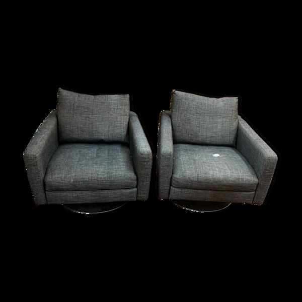 Selency Paire de fauteuils Natuzzi