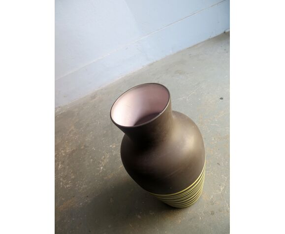 Vase en céramique au sol Allemagne de l'Ouest années 1970