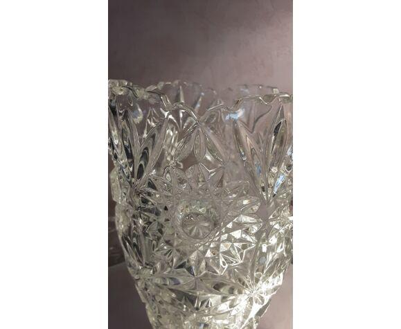 Vase ciselé en cristal