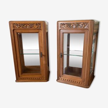 Paire de vitrines anciennes style Art Deco