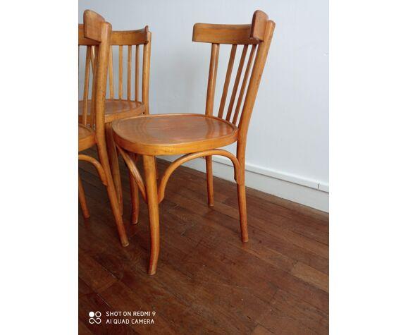 Trio de chaises bistrot vintage