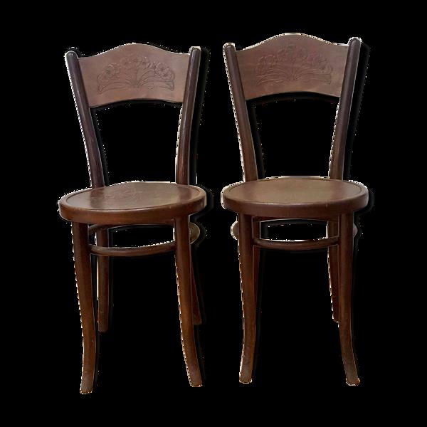 Lot de 2 chaises Thonet