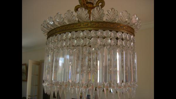 Suspension en cristaux de Baccarat