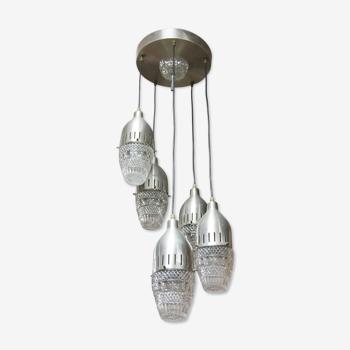 Suspended chandelier vintage Italian