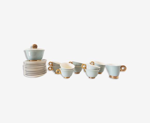 Service à café porcelaine Digoin Sarreguemines