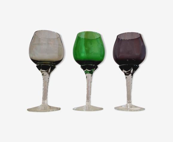 Trio de verres Murano