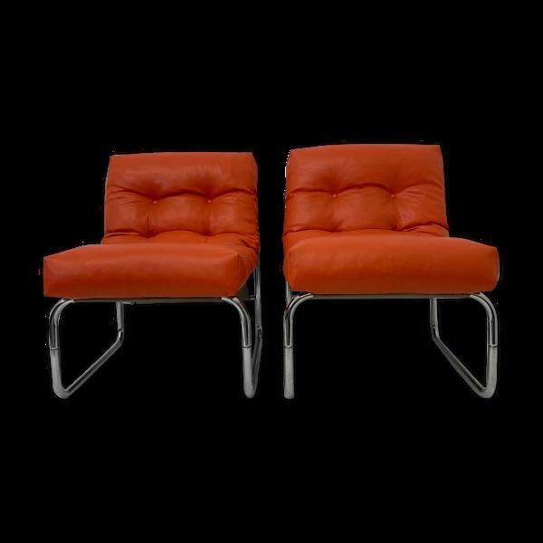 Paire de fauteuils de Gillis Lundgren pour Ikea, modèle Pixi