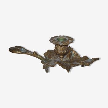 Bougeoir ancien en bronze