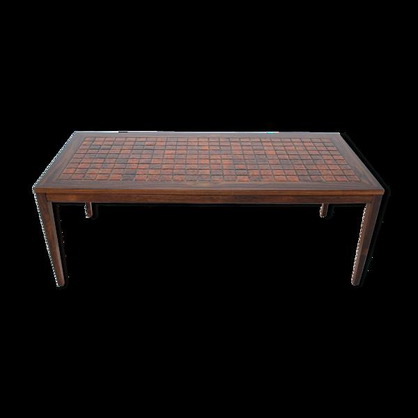 Table basse en palissandre et céramique, Danemark