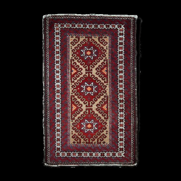 Tapis vintage Afghan Ersari fait main 54x91cm années 40