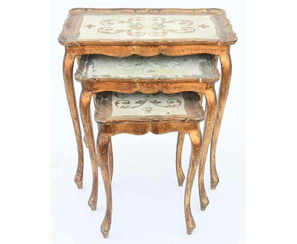 3 Tables gigognes style florentin