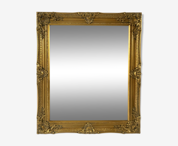 Miroir biseauté style empire doré 74x64cm