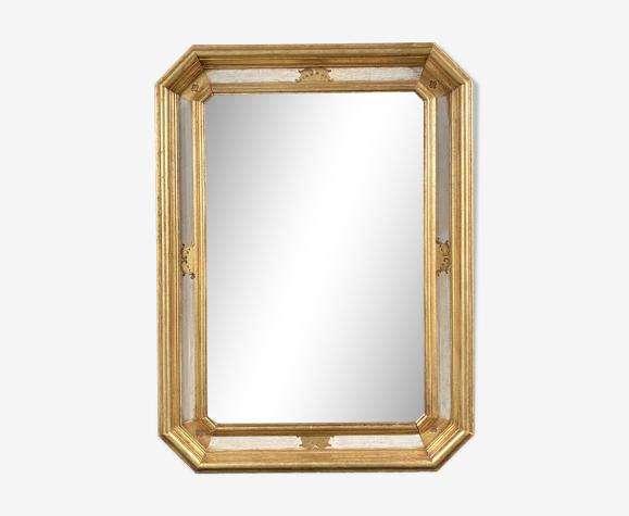 Miroir biseauté bois doré 76x57cm